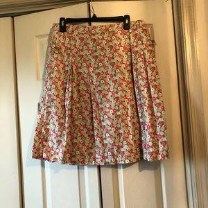 Liz Claiborne A Line Skirt Pink Green Size 12